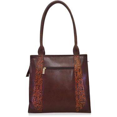 Arpera Brown Ladies Handbag Ssa10