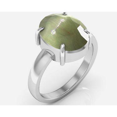 Kiara Jewellery Certified Lehsuniya 3.0 cts & 3.25 Ratti Cats Eye Ring_Catrw