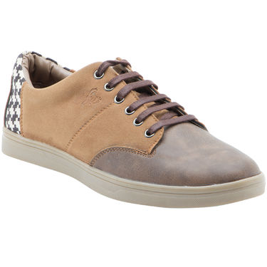 Randier Synthetic Leather Brown Casual Shoes -Cfl006