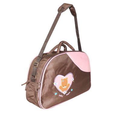 Wonderkids Teddy Print Baby Diaper Bag - Brown