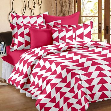 Storyathome 100% Cotton Double Bedsheet With 2 Pillow Cover-CN1404