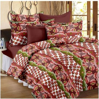 Storyathome Set Of 2 Double Bedsheet With 4 Pillow Cover-CN_1222-1240