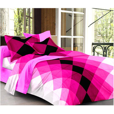 Set Of 2 Double Bedsheet With 4 Pillow Cover-CN_1233-CN1270