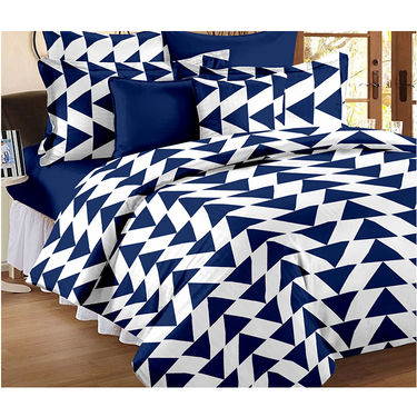 Set Of 2 Double Bedsheet With 4 Pillow Cover-CN_1402-CN1268