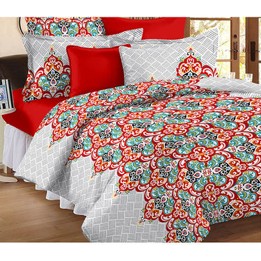Set Of 2 Double Bedsheet With 4 Pillow Cover-CN_1404-CN1266
