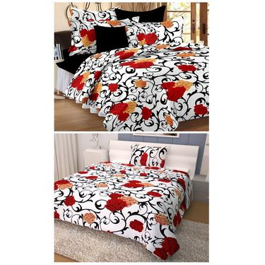 Storyathome 100% Cotton Double Bedsheet & 1 Single Bedsheet With 3 Pillow Cover -CN_1414-FY1415