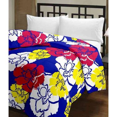 eCraftIndia Set of 2 Designer Printed Single Bed Reversible AC Blanket-COMHFD107
