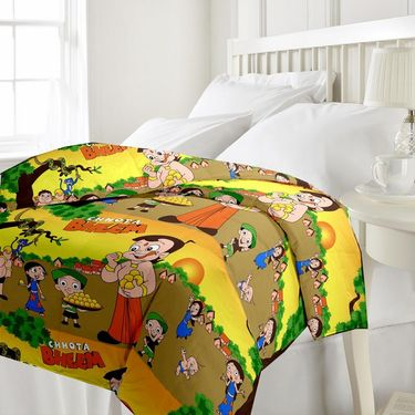 eCraftIndia Set of 2 Designer Printed Single Bed Reversible AC Blanket-COMHFD112