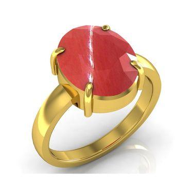 Kiara Jewellery Certified Moonga 3.0 cts & 3.25 Ratti C&al Moonga Ring_Cory