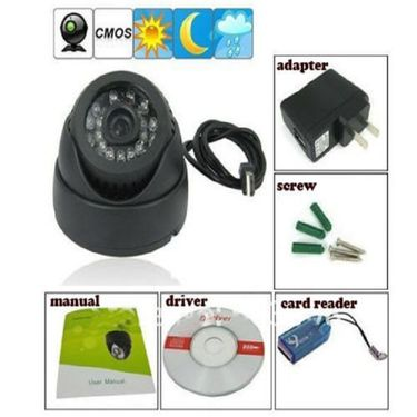 CCTV Dome Camera Video Recorder on In-built 8GB MicroSD Card