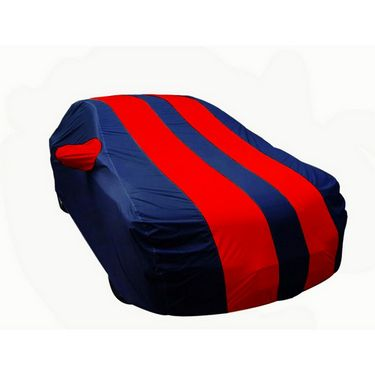 Autofurnish Stylish Yellow Stripe Car Body Cover BMW 520d - Pearl Blue-AF20597