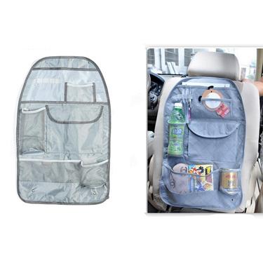 Car Seat Back Pocket Organizer Bag - Grey