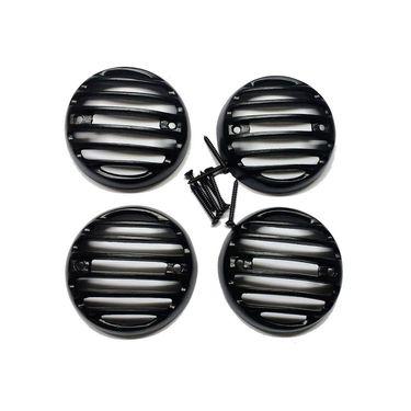 RR's Combo Heavy Metal Headlight Grill plus Indicator Grill set plus Tail Light Grill For Bajaj Avenger 220cc