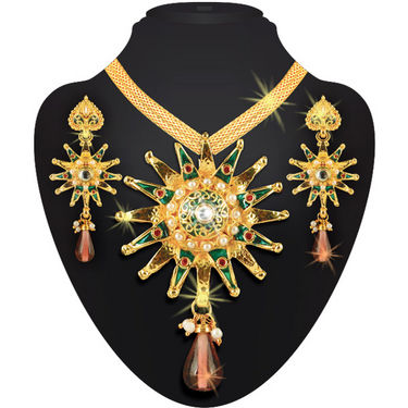 Charming Lady - 1 Gram Gold Plated Heavy Jewellery