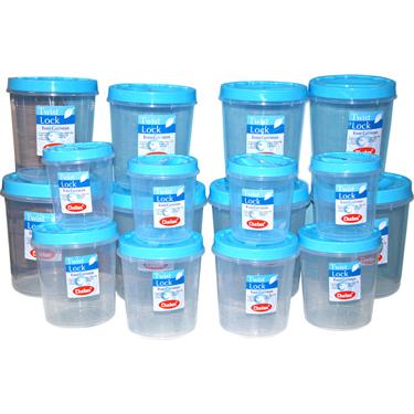 Chetan 16Pcs Twist Lock Kitchen Storage Container Set - Blue