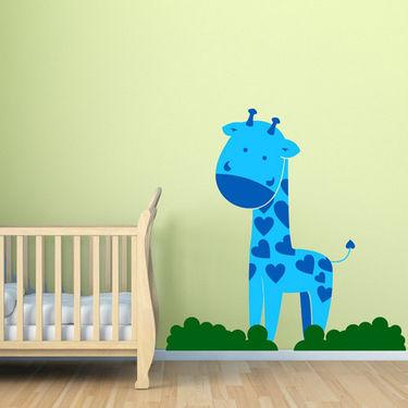 Chipakk Giraffe Wall Decal - Blue- AN10BM