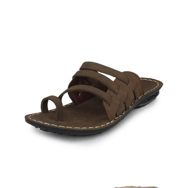 Columbus Suede Camel Sandals -2511