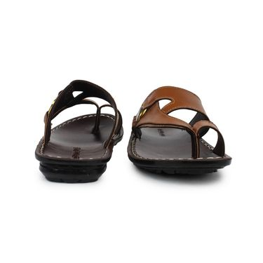 Columbus Synthetic Leather Brown & Tan Sandals -2607