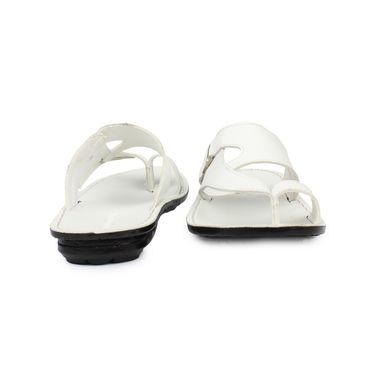 Columbus Synthetic Leather White Sandals -2607