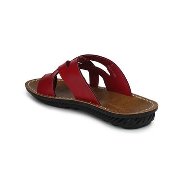 Columbus Synthetic Leather Red Sandals -2703