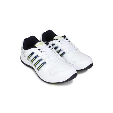 Columbus White & Navy & Green Sports Shoe C21