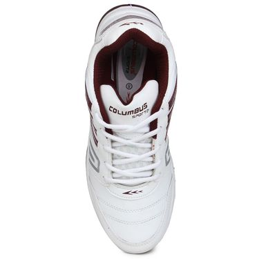 Columbus White & Red Sports Shoe C29