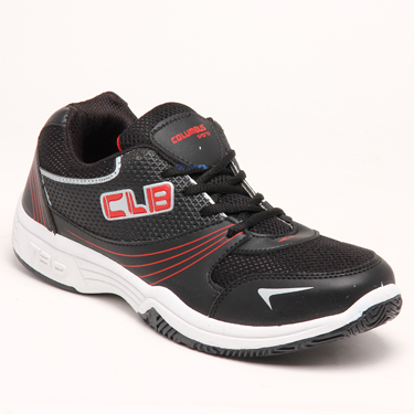 Columbus PU Sports Shoes - Black