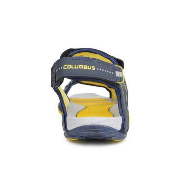 Columbus PU Grey Blue & Yellow Floater -S-102