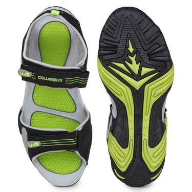 Columbus PU Grey Black & Green Floater -S-103