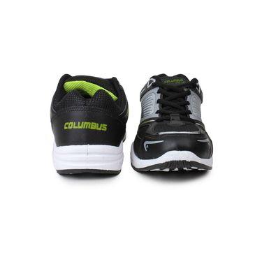 Columbus Black & Grey Sports Shoe C59