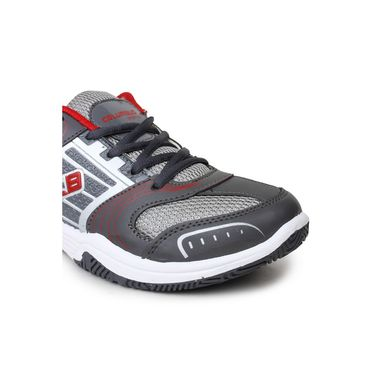 Columbus Grey & Red Sports Shoe C33