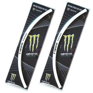 Set of 2 Monster Motorcycle Rim Sticker