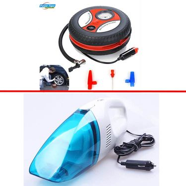Combo of Vacuum cleaner + 300PSI Air Compressor (Best quality)