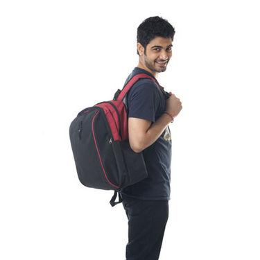 Combo of Fidato Backpack - Black + Belt-5281
