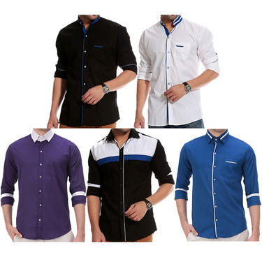 Pack of 5 Full Sleeves Casual Shirts For Men_Gkcs01