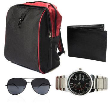 Combo of Laptop Bag + wallet + sunglass + Watch