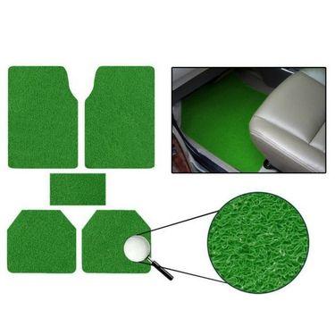AutoStark Anti Slip Noodle Car Floor Mats SET OF 5-Green