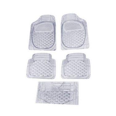 AutoStark SET OF 5 Premium Transparent White Car Floor/Foot Mats