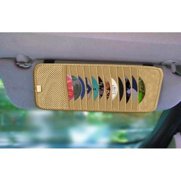 AutoStark Car CD Visor Holder DVD Storage Organiser-Beige Pack of 2