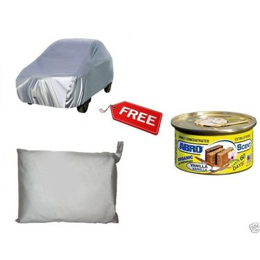 Car Silver Body Cover Renault Pulse + Abro Car freshener/Perfume