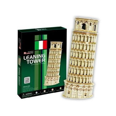 Cubic Fun 8pcs 3D Puzzle Leaning Tower of Pisa Model Sculpture