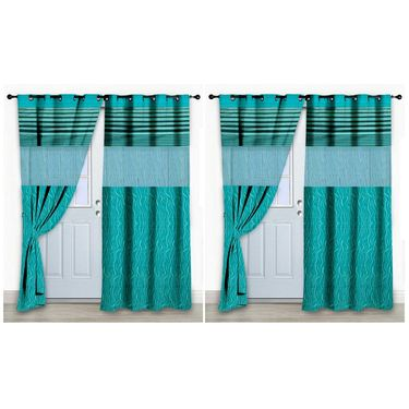 Storyathome Set Of 2 Door Curtain-7 Feet-DCL_2-1001