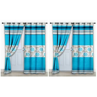 Storyathome Set of 2 Door curtain-7 feet-DCL_2-1010