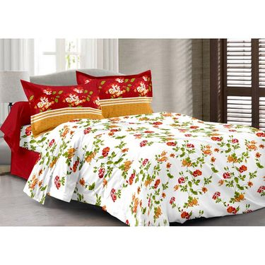 Valtellina 100% Cotton Double Bedsheet with 2 Pillow Cover-217-F