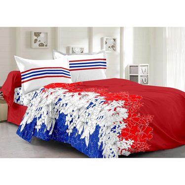 Valtellina 100% Cotton Double Bedsheet with 2 Pillow Cover-6011-B