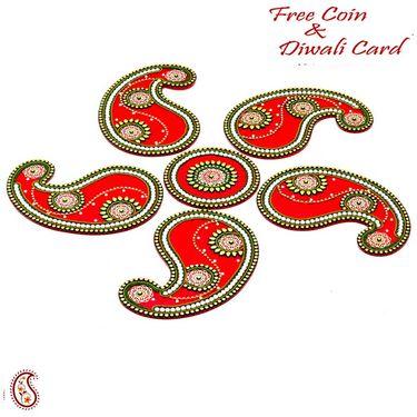 Aapno Rajasthan Stunning Paisley Design Rangoli Artpiece for Diwali