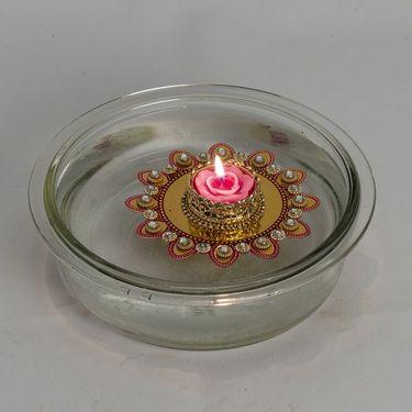 Stone studded Beautiful Floating Candles