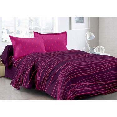 Valtellina 100% Cotton Double Bedsheet with 2 Pillow Cover-3019-A