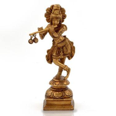 Little India Lord Krishna Pooja Idol in Antique Pure Brass -200
