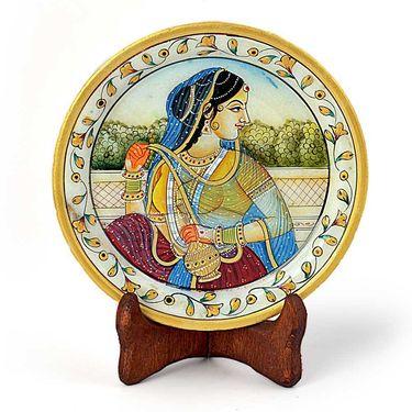 Little India Rajasthani Princess Gold Meenakari Marble Painting 397